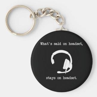 Qué se dice en las auriculares, permanece en las a llaveros personalizados