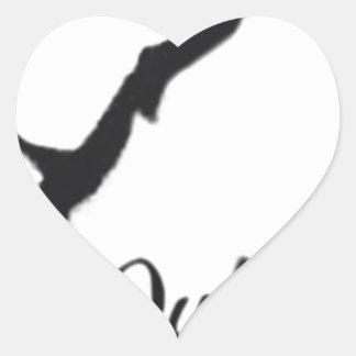 Que Sera Sera Heart Sticker
