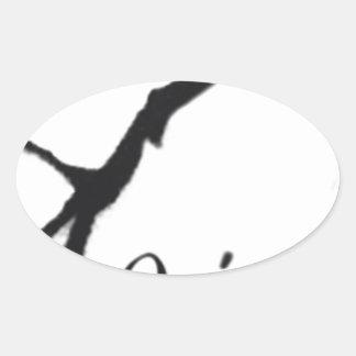 Que Sera Sera Oval Sticker
