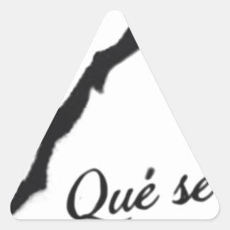 Que Sera Sera Triangle Sticker