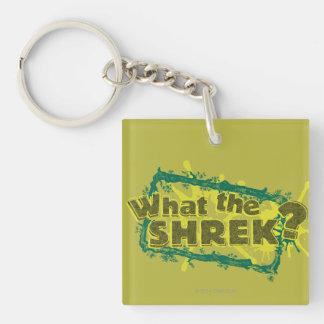 ¿Qué Shrek? Llavero Cuadrado Acrílico A Doble Cara