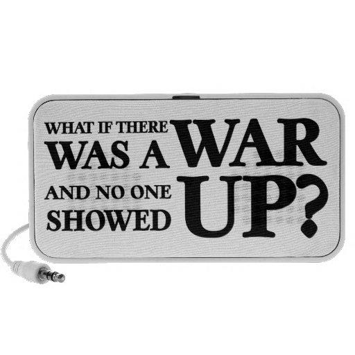 ¿Qué si allí una guerra, y nadie fue aparecida? Laptop Altavoces