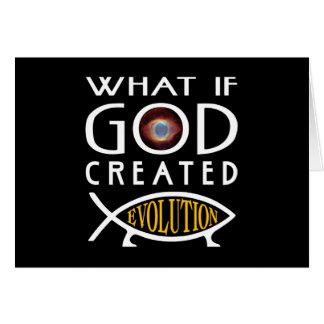 Qué si dios creó la evolución tarjeta de felicitación