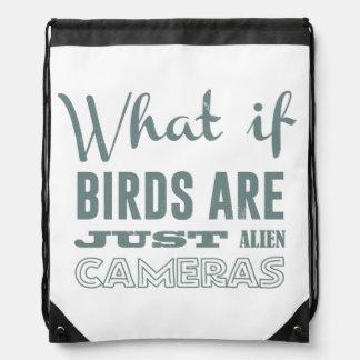 Qué si los pájaros son apenas cámaras extranjeras mochila
