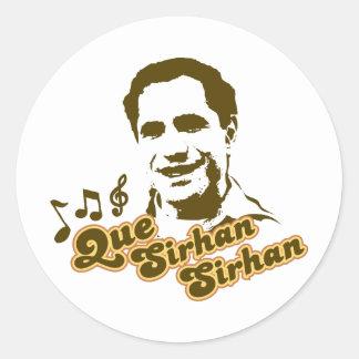 Que Sirhan Sirhan Classic Round Sticker
