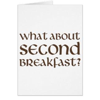 Qué sobre el segundo desayuno tarjeta de felicitación