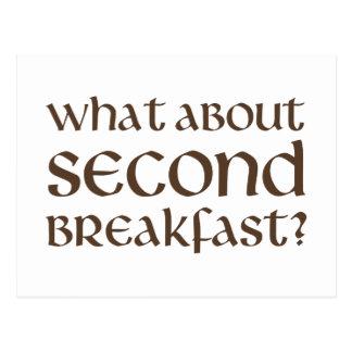 Qué sobre el segundo desayuno tarjetas postales