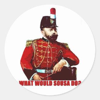 ¿Qué Sousa haría? Pegatina Redonda