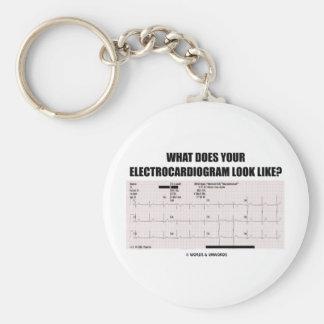 ¿Qué su electrocardiograma parece? Llavero Redondo Tipo Pin