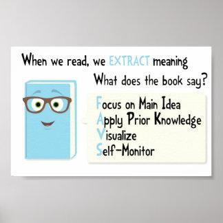 ¿Qué su libro está diciendo? Póster