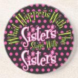 qué sucede con las estancias de las hermanas con l posavasos manualidades
