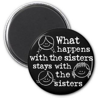 Qué sucede con las hermanas imán redondo 5 cm