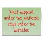 Qué sucede debajo del muérdago tarjeta