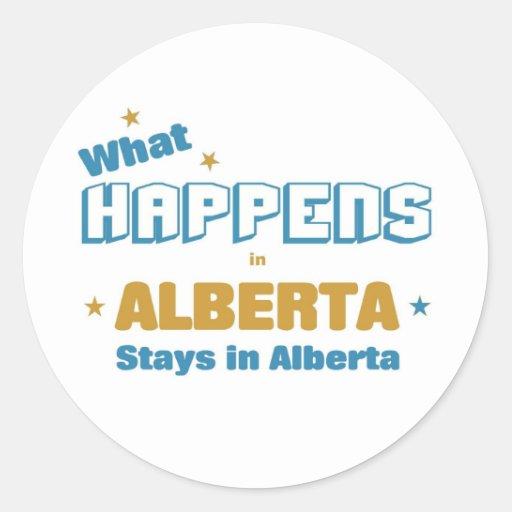 Qué sucede en Alberta Pegatina Redonda