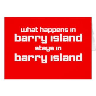 Qué sucede en Barry Tarjeta De Felicitación
