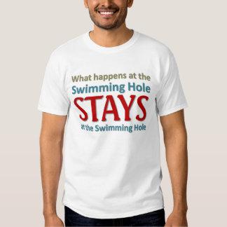Qué sucede en el agujero de natación remera