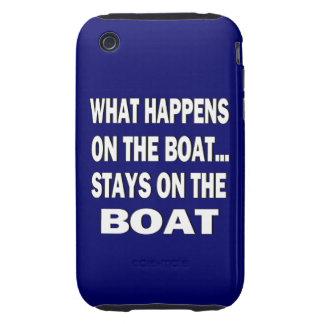 Qué sucede en el barco… - Canotaje divertido iPhone 3 Tough Coberturas