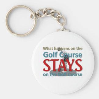 Qué sucede en el campo de golf llavero redondo tipo pin