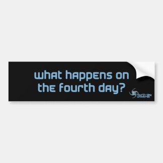 ¿Qué sucede en el cuarto día? (pegatina para el pa Pegatina Para Auto