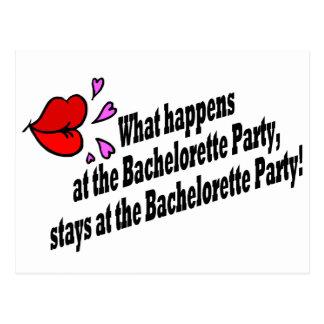 Qué sucede en el fiesta de Bachelorette… Postal