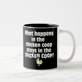 Qué sucede en el gallinero de pollo taza de dos tonos