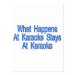 Qué sucede en el Karaoke Tarjetas Postales