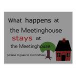 Qué sucede en el Meetinghouse….
