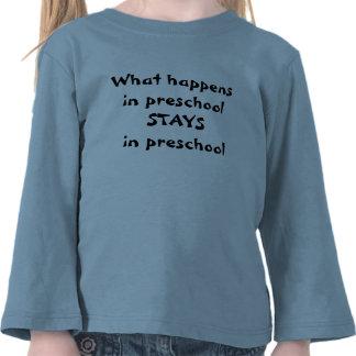 Qué sucede en ESTANCIAS preescolares en niño prees Camisetas
