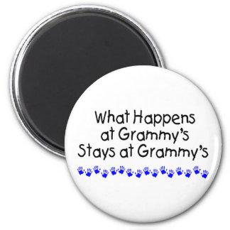 Qué sucede en Grammys con Handprints azul Imán Redondo 5 Cm