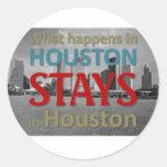 Qué sucede en Houston Pegatina Redonda