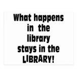 Qué sucede en la biblioteca tarjeta postal