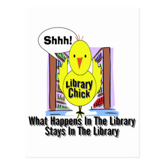 Qué sucede en la biblioteca… tarjetas postales