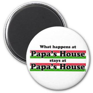 Qué sucede en la casa de las papás imán redondo 5 cm
