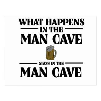 Qué sucede en la cueva del hombre, permanece postal