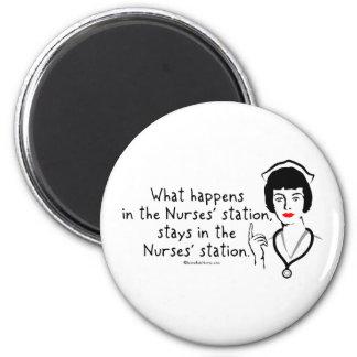 Qué sucede en la estación de las enfermeras imán redondo 5 cm