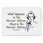 Qué sucede en la estación de las enfermeras felicitación