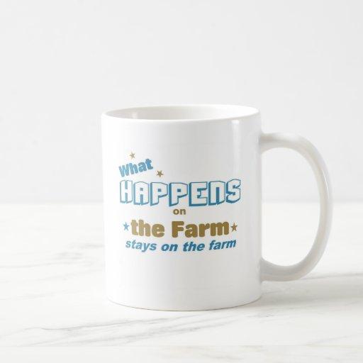 Qué sucede en la granja tazas