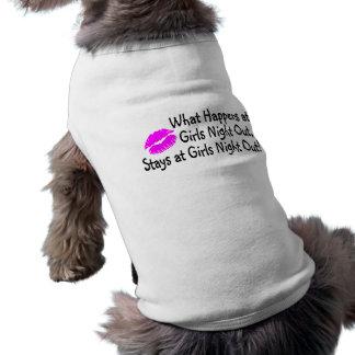 Qué sucede en la noche de los chicas hacia fuera p camiseta de perro