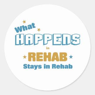 qué sucede en la rehabilitación pegatina redonda