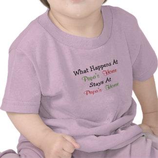 Qué sucede en la ropa del bebé de la casa de la pa camiseta