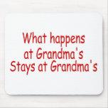 Qué sucede en las abuelas, permanece en las abuela tapetes de ratones