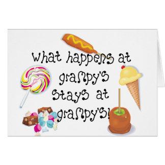 ¡Qué sucede en las estancias de Grampy en Grampy! Tarjeta De Felicitación