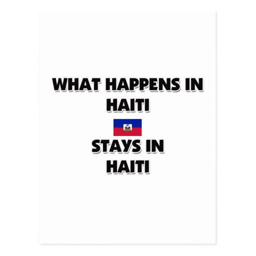 Qué sucede en las estancias de HAITÍ allí Postal