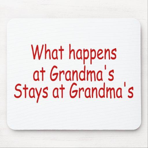 Qué sucede en las estancias de la abuela en la abu tapetes de ratón