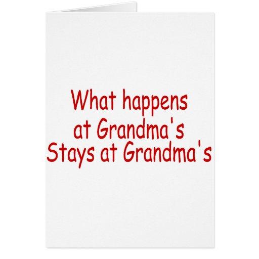 Qué sucede en las estancias de la abuela en la abu tarjetas