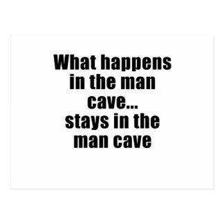 Qué sucede en las estancias de la cueva del hombre tarjetas postales