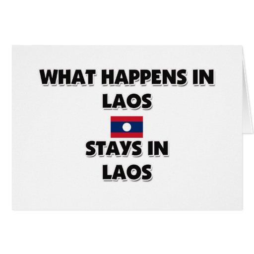 Qué sucede en las estancias de LAOS allí Felicitacion