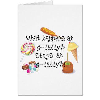 Qué sucede en las ESTANCIAS de los G-Papás en los  Tarjeta De Felicitación