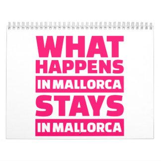 Qué sucede en las estancias de Mallorca en Calendarios De Pared