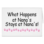 Qué sucede en las estancias de Nanas en Nanas Felicitaciones